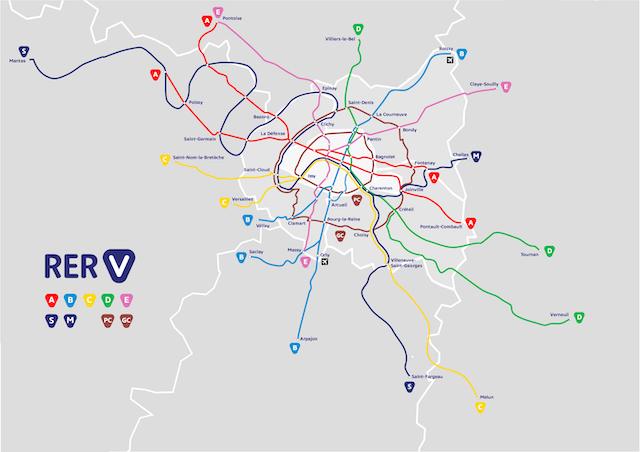 La carte du RER Vélo présentée le 11 janvier par le Collectif Vélo Île-de-France / ©  Collectif Vélo Île-de-France