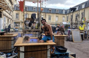 La friche des Grands Voisins se transforme en village thermal