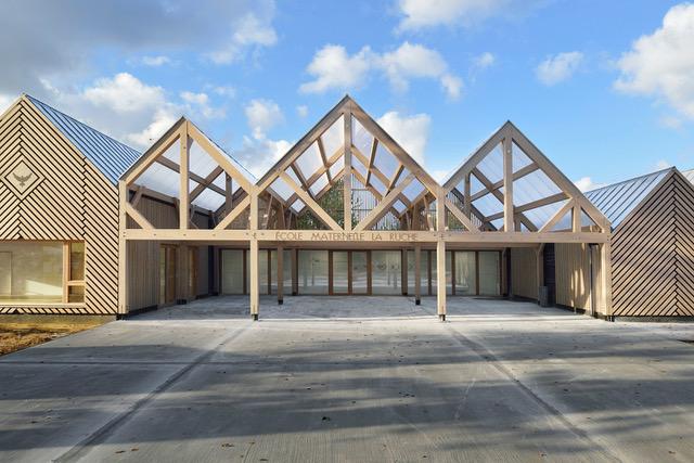 Ecole maternelle « La ruche » à Perthes-en-Gâtinais (Seine-et-Marne), lauréate de l'édition 2019 des trophées bois Île-de-France / © DR