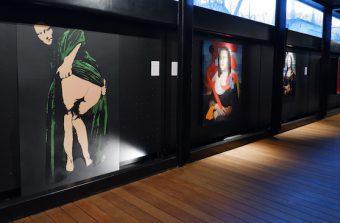 Des street artistes revisitent l'oeuvre de Léonard de Vinci