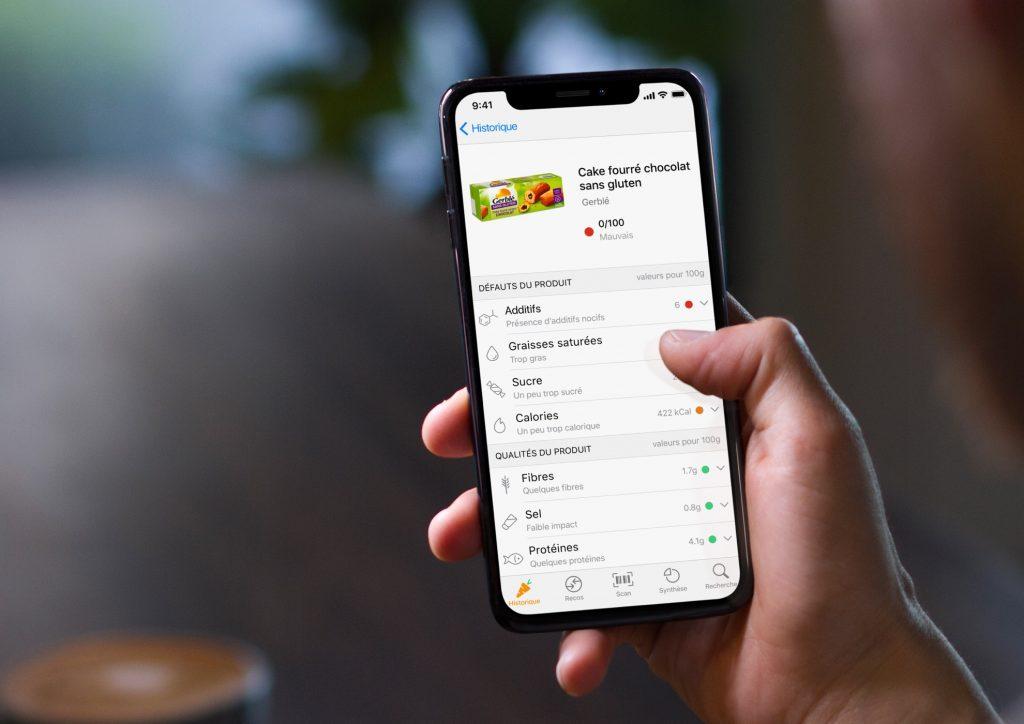 L'application mobile Yuka permet de connaître la valeur nutritionnelle des produits de la grande distribution / © Yuka