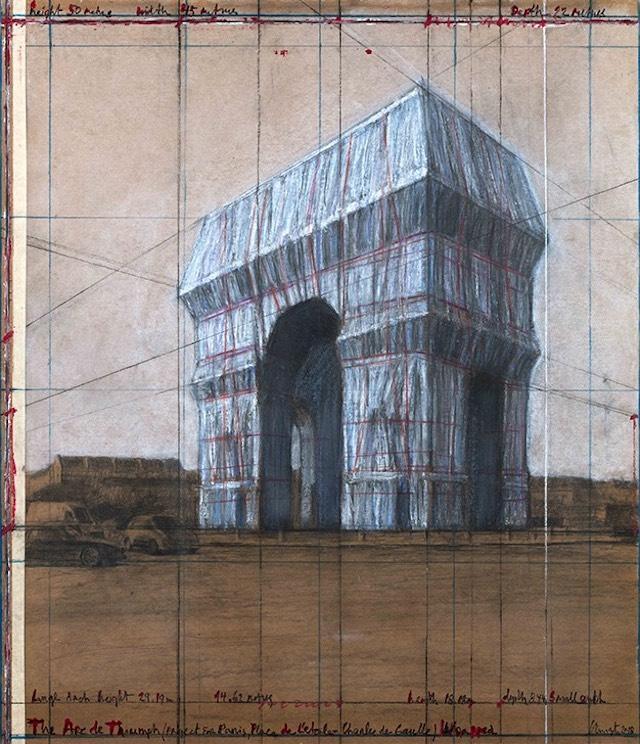 Le projet d'empaquetage de l'Arc de triomphe imaginé par l'artiste Christo / © Christo