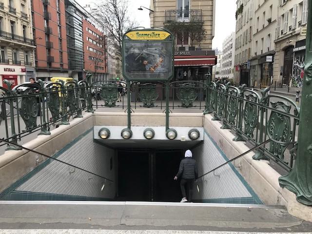 Station  de métro à Paris mardi 17 mars / © Olivier Razemon