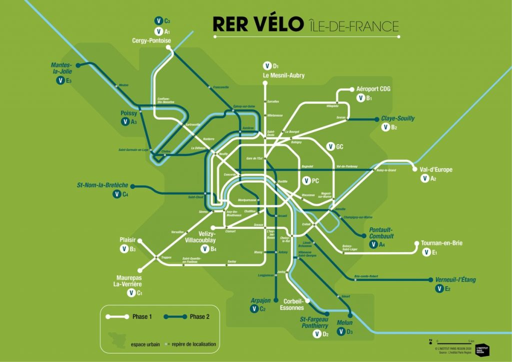 La carte du RER vélo /  © Institut Paris Region
