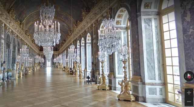 Visite virtuelle de la Galerie des Glaces du château de Versailles / © Google Arts and Culture