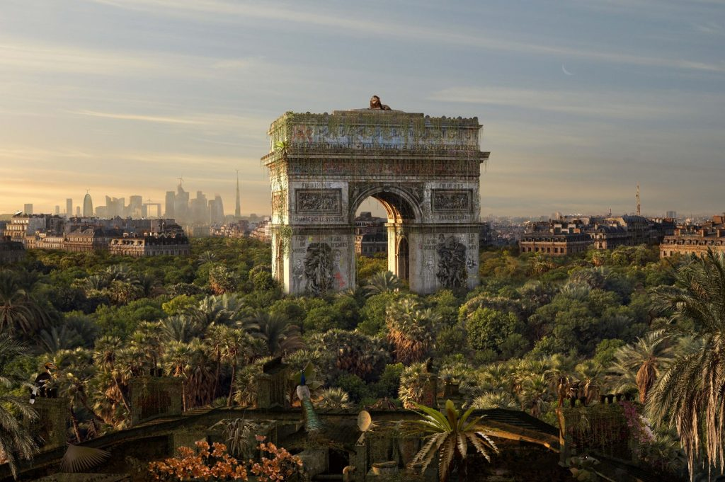 "L'Arc de triomphe vu par Chris Morin Eitner dans sa série ""When we were kings"" / © Chris Morin Eitner"