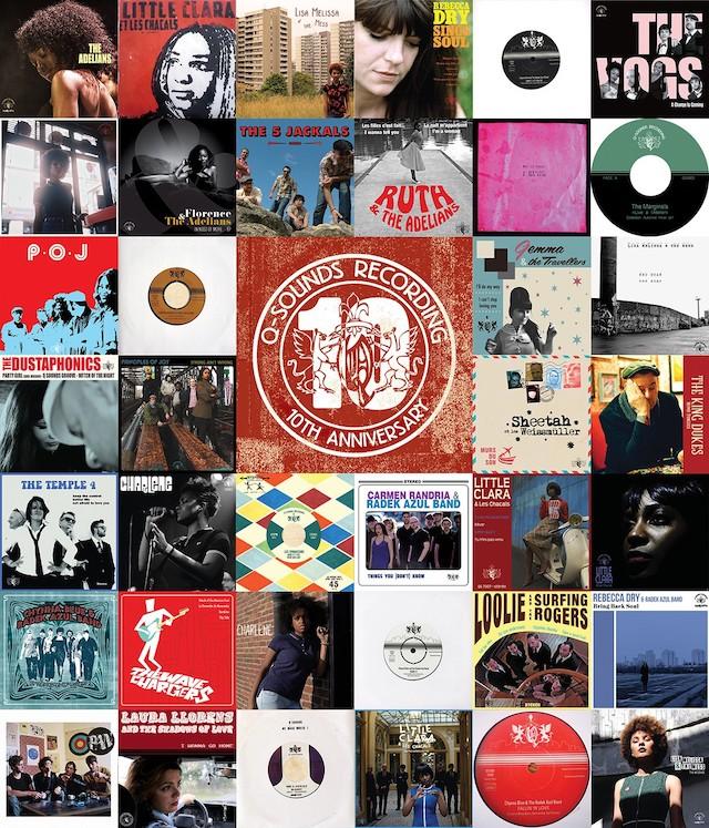 Quelques pochettes du label soul Q-Sounds Recording créé en 2009 en Seine-Saint-Denis /  DR