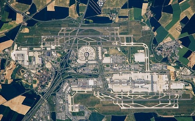 L'aéroport de Roissy dans le Val-d'Oise / © NASA (Creative commons)