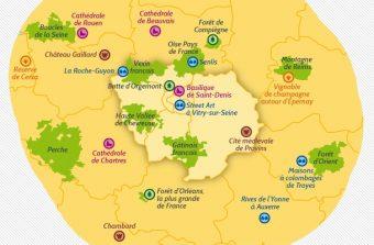 Notre carte touristique de l'Île-de-France post-confinement