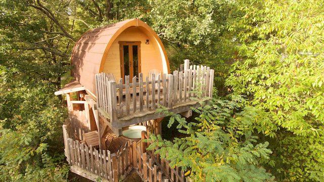 Les cabanes du Bois de Rosoy dans l'Oise / © Bois de Rosoy