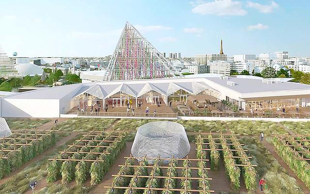La future ferme urbaine sur le toit du Parc des expositions de la Porte de Versailles à Paris (15e) / DR