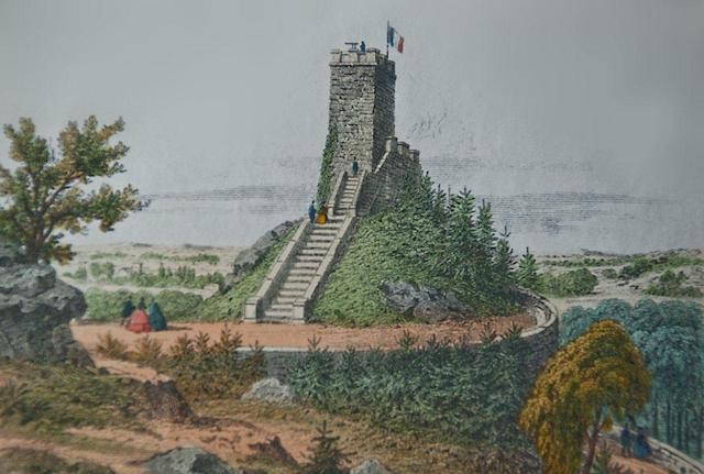 La Tour Denecourt en 1853 en forêt de Fontainebleau / DR