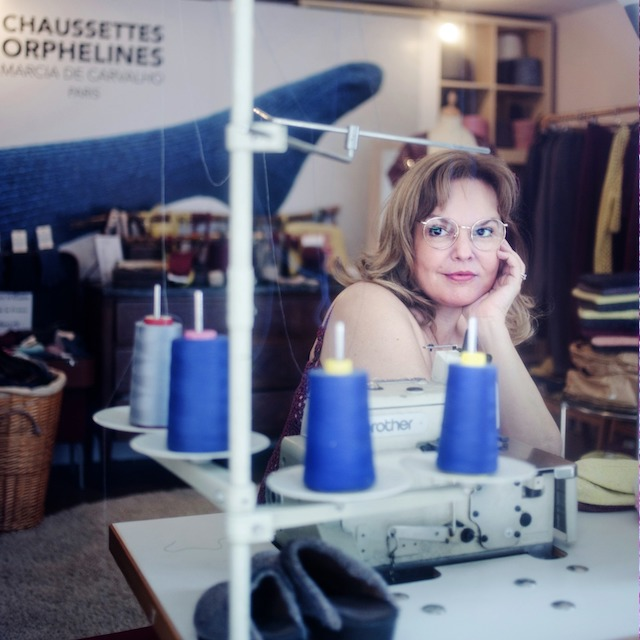 Marcia de Carvalho, fondatrice de la marque Chaussettes orphelines / © Chaussettes orphelines