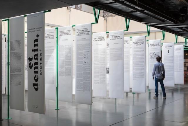 """L'exposition """"Et demain on fait quoi ?"""" au Pavillon de l'Arsenal à Paris / © Pierre L'Excellent"""
