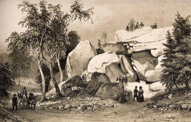 Un sentier tracé par Claude-François Denecourt en forêt de Fontainebleau au XIXe siècle / DR