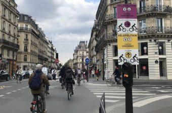 Des panneaux pour baliser les «coronapistes» dans Paris