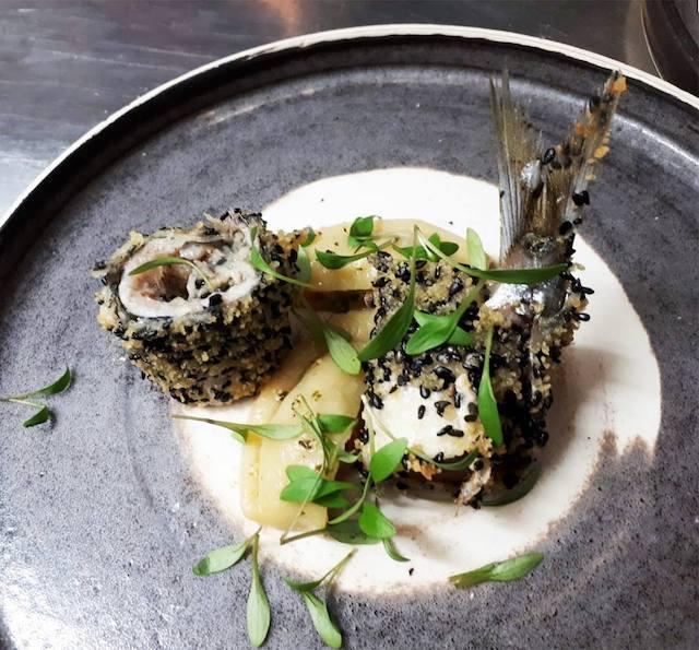 Sardine et ravioles de légumes au Vin sur Vin à Ermont / © Vin sur Vin