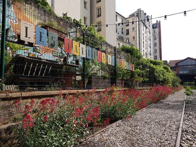Les Jardins du ruisseau sur la Petite Ceinture / © Les Jardins du ruisseau
