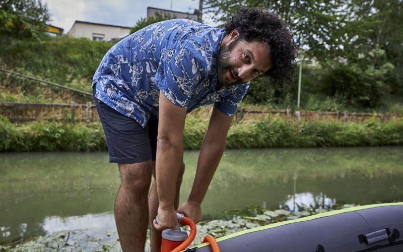 """Auteur du documentaire """"Mon incroyable 93"""", Wael Sghaier était le premier invité du podcast """"En mouvement"""" lancé par In  Seine-Saint-Denis / © In Seine-Saint-Denis"""