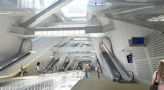 La future gare du RER E Porte Maillot à Paris / © Setec - Egis - Duthilleul - Arep