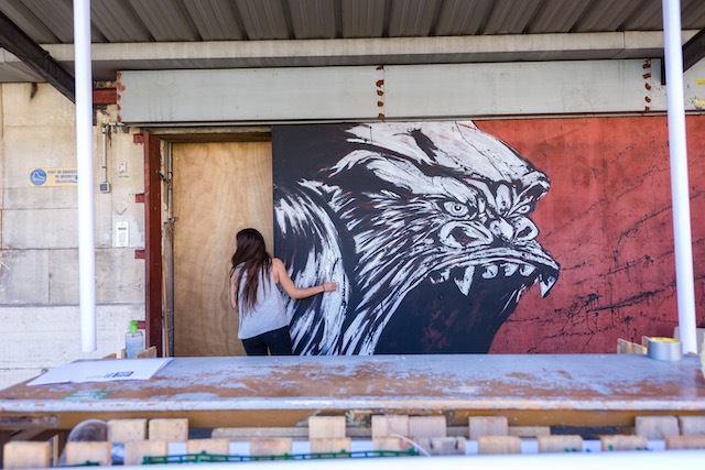 """L'exposition street art """"Réenchanter la ville"""" organisée dans l'ancienne poste centrale de Versailles jusqu'au 18 octobre / © Quai 36"""