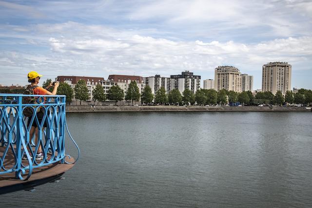 Jour 7. Les berges de la Seine vues depuis le pont du Port à l'Anglais, entre Vitry et Alfortville / Jérômine Derigny pour Enlarge