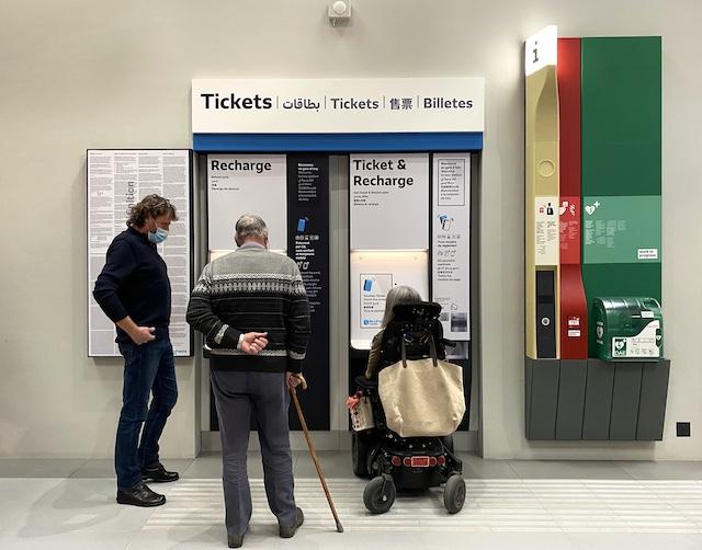 Un atelier consacré à l'accessibilité des équipements du Grand Paris Express à la Fabrique du métro à Saint-Ouen / © Mélanie Rostagnat pour Enlarge your Paris