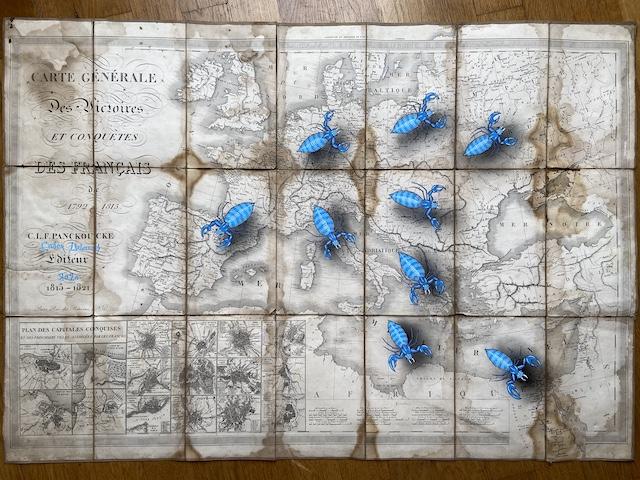La carte des victoires napoléoniennes customisées par Coex Urbanus / © Codex Urbanus