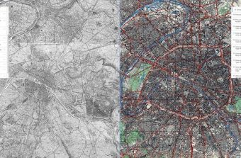 Une appli pour comparer les cartes de Paris du XVIIIe siècle jusqu'à aujourd'hui