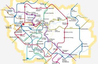 Le Randopolitain, la carte des sentiers de grande randonnée franciliens et leurs accès en train