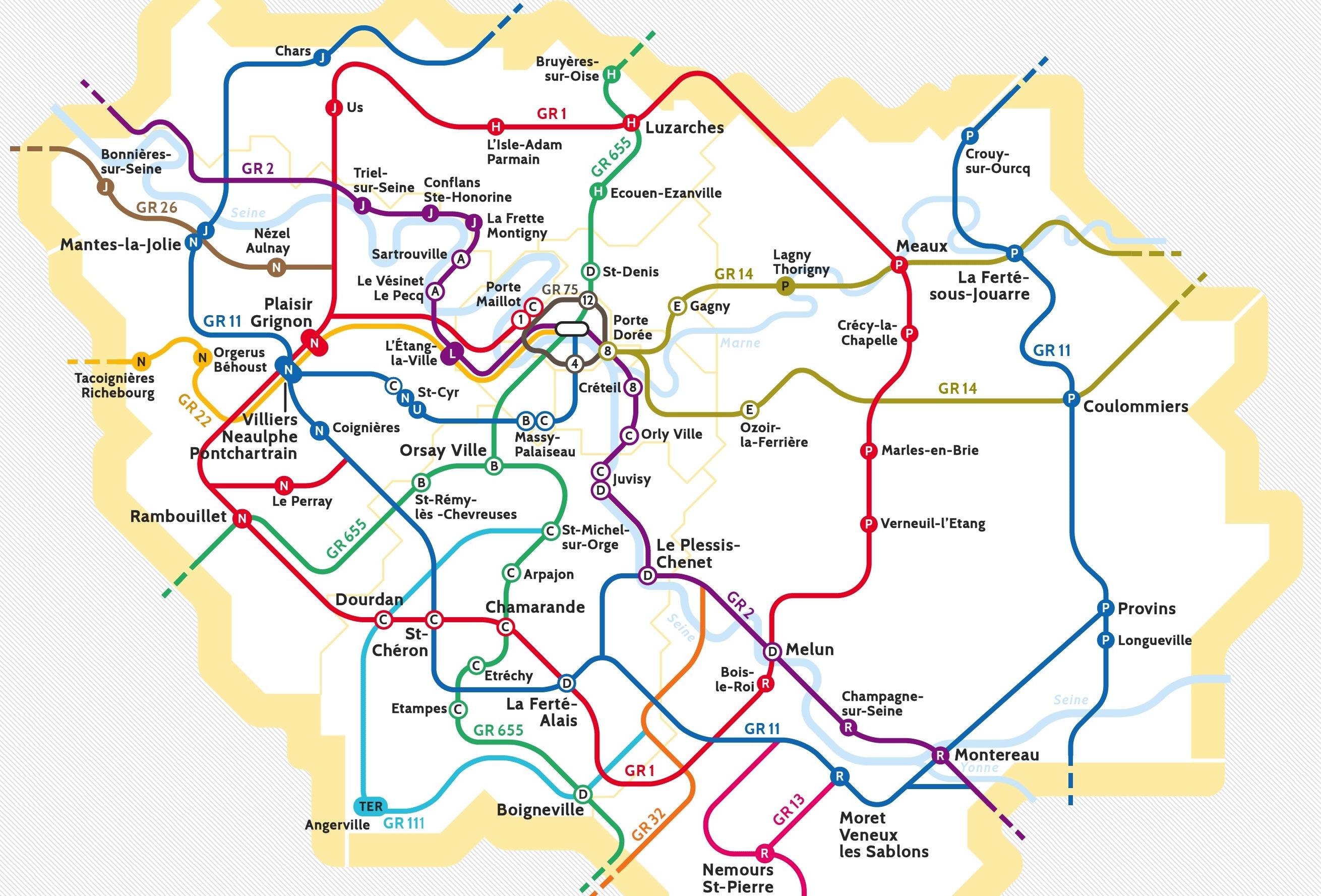 La carte du randopolitain / © Enlarge your Paris x We Do Data