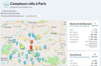 Un nouveau site répertorie le trafic des vélos à Paris