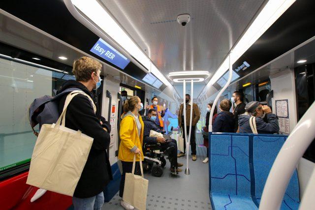 Une reproduction d'une rame du Grand Paris Express à la Fabrique du métro à Saint-Ouen / © Société du Grand Paris - Leticia Pontual