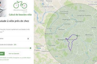 Un site pour calculer des boucles à vélo dans un rayon de 20 km autour de chez soi