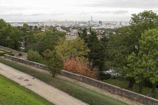 Vue depuis le parc de l'observatoire de Meudon / © Jérômine Derigny