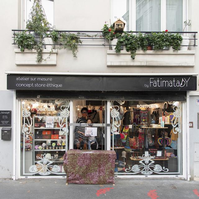 By Fatimata Sy est concept store éthique créé par Fatimata au 20 rue Victor Hugo à Montreuil / © Jérômine Derigny pour Enlarge your Paris