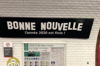 Le métro Bonne nouvelle se met sur son 31 pour clore 2020