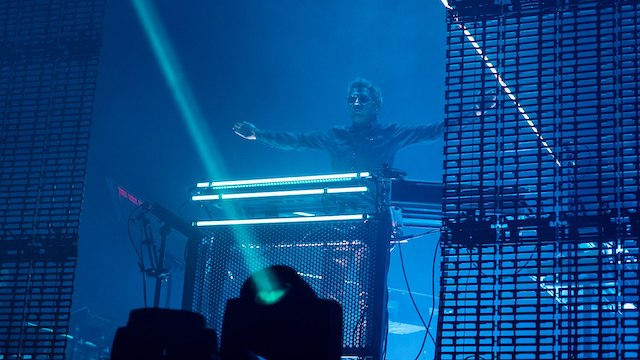 Jean-Michel Jarre en 2018 au festival Coachella en Californie / © Raph_PH (Wikimedia commons)