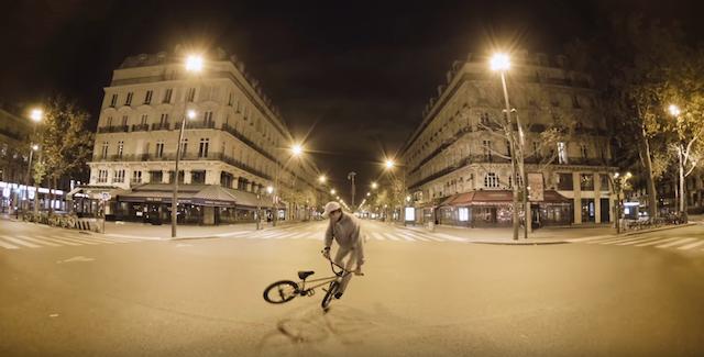 L'octuple champion du monde de BMX Matthias Dandois dans les rues de Paris désertes pour Unlocked Down / DR