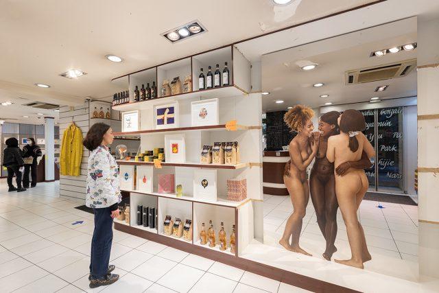 La Galleria Cointinua à Paris propose de faire ses emplettes dans une épicerie fine tout en admirant des œuvres d'art / ©Sara De Santis