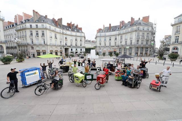 Lancés à Nantes en 2015, Les Boîtes à vélo, qui cherchent à promouvoir l'entreprenariat à vélo, compte désormais sept association en France dont une à Paris depuis 2017 / © Les Boîtes à Vélo
