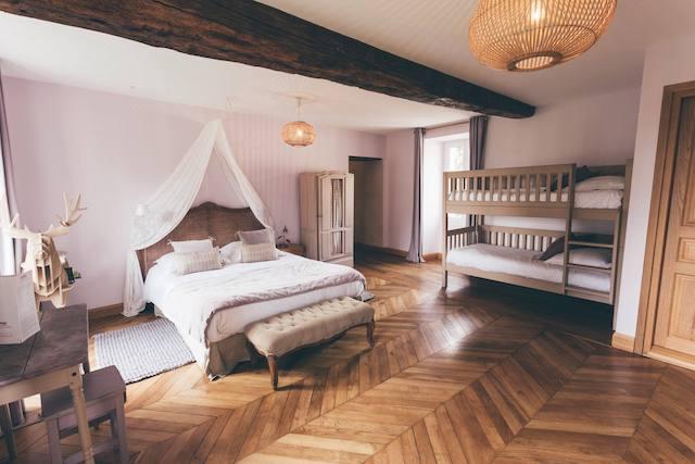 L'une des chambres de la Ferme d'Armenon / © La Ferme d'Armenon