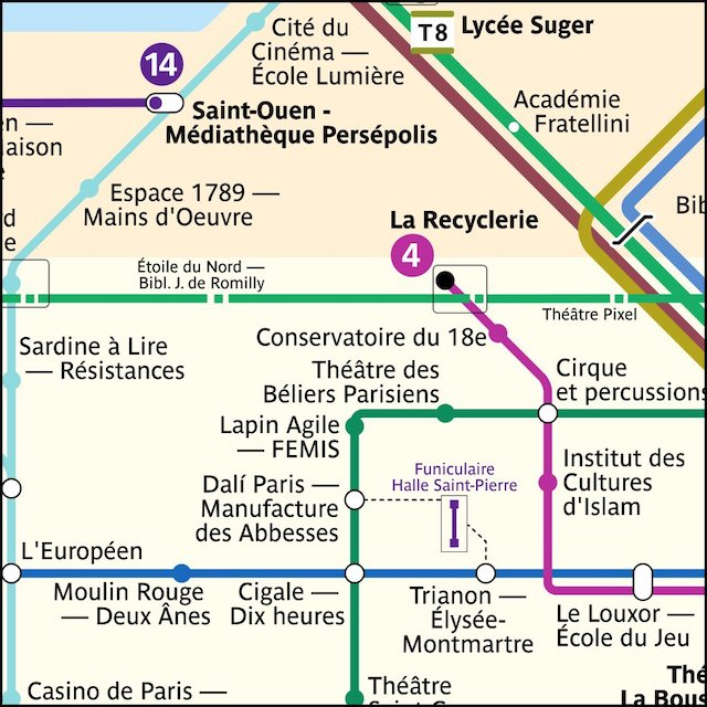 a mis en ligne une carte du métro qui indique les lieux culturels en soutien au monde de la culture / © Lucas Destrem