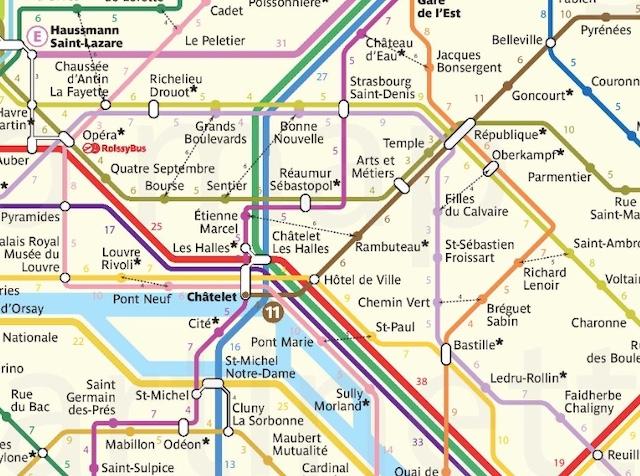 La carte du métro indiquant les temps de marche entre chaque station / © Guillaume Martinetti alias @gmartinetti84 sur Twitter