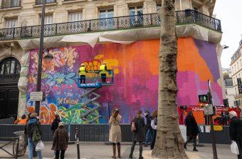 Une fresque street art géante à voir naître en Live à Paris