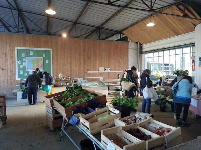 Le marché couvert du Potager de l'Epinay / © Le Potager de l'Epinay