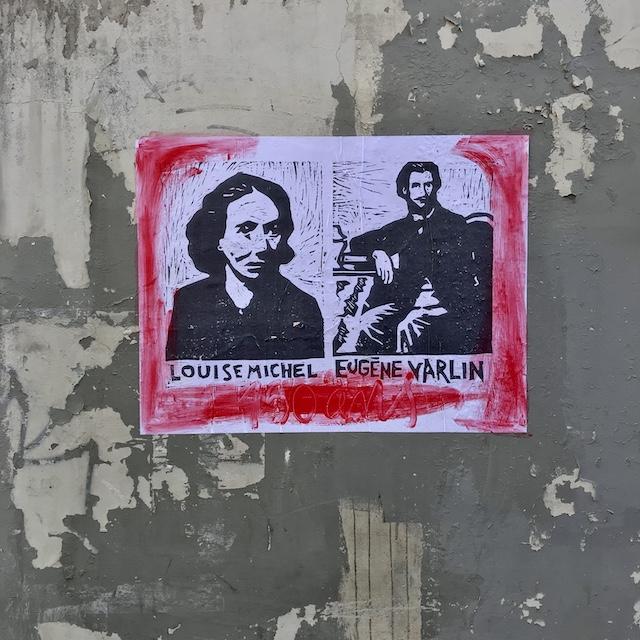 Hommage aux communards Louise Michel et Eugène Varlin dans les rues de Belleville / © Vianney Delourme pour Enlarge your Paris