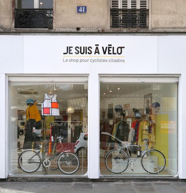 Le pop-up store Je Suis À Vélo est ouvert jusqu'au 30 juin rue de Rivoli / © Je Suis À Vélo