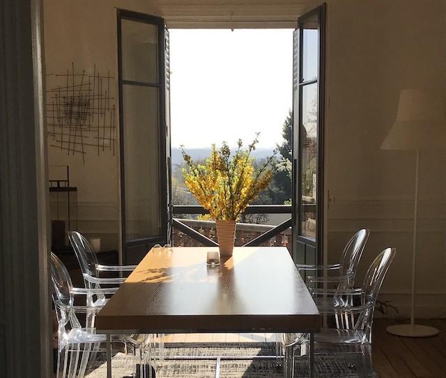 La vue depuis La Villa de la terrasse, chambre d'hôtes à Châtenay-Malabry / © Olivier Razemon