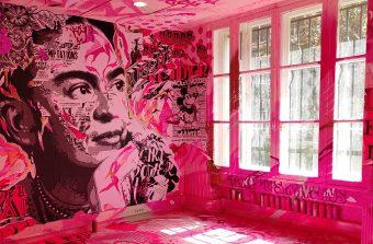 Un immeuble repeint du sol au plafond par des street artistes à Paris